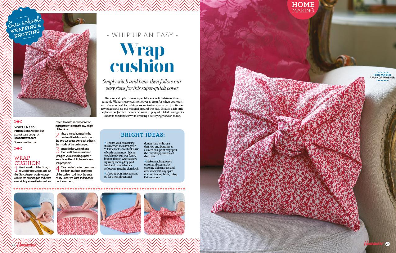 Ella Johnston Scandi Star fabric used on Homemaker project