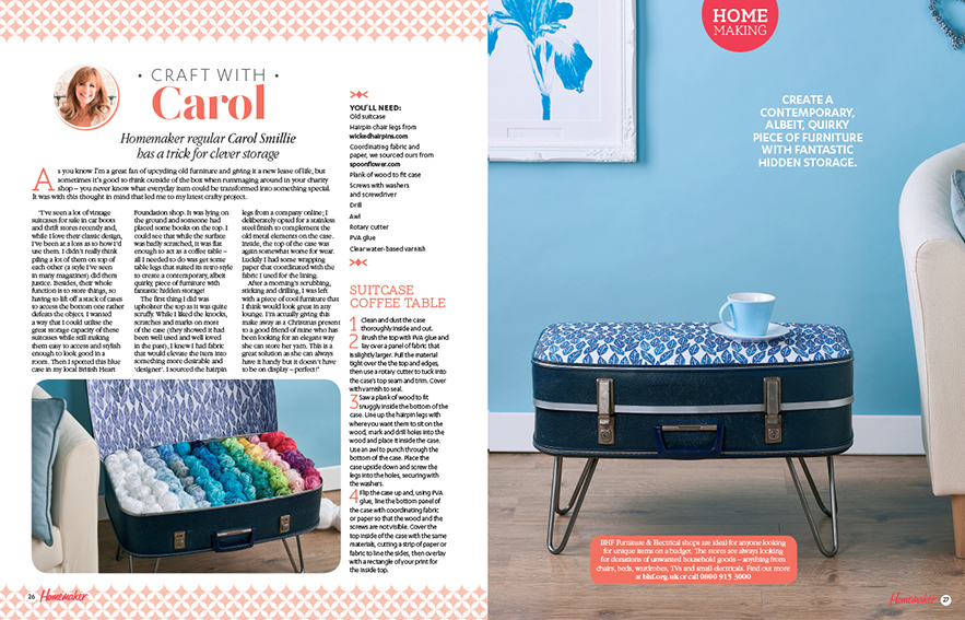 lla Johnston Scandi Leaves fabric used on Carol Smillie Homemaker project