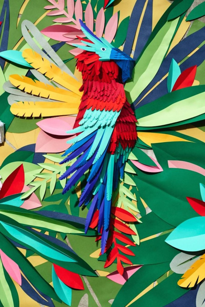 Mlle Hipolyte paper jungle wall deco vis Fubiz – 7 lovely things for the weekend at https://ellasplace.co.uk