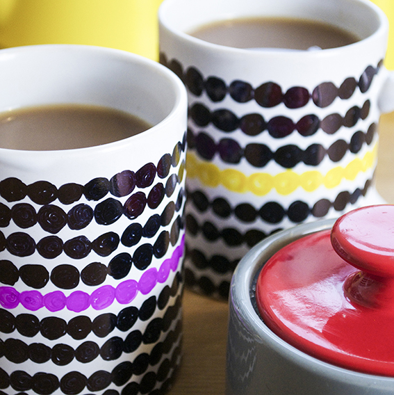 Sharpie hack - cool mug set (c) ellasplace.co.uk