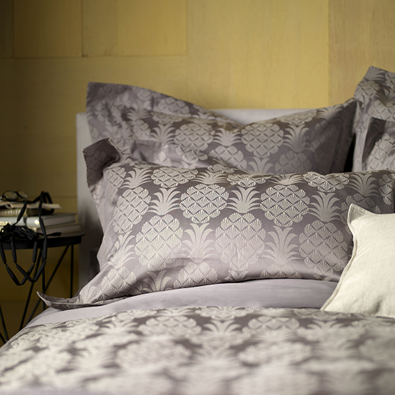 Steel Grey Pineapple Bedlinen, £50, Secret Linen Store, Pineapple Trend ellasplace.co.uk