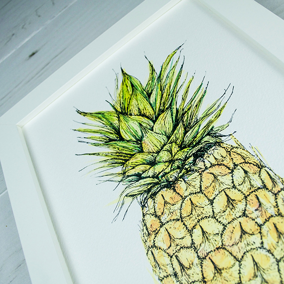 Ella Johnston Pineapple print, £12. Etsy. ellasplace.co.uk