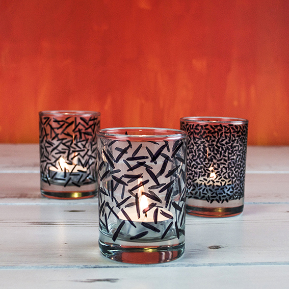 Memphis style tealights (c) ellasplace.co.uk