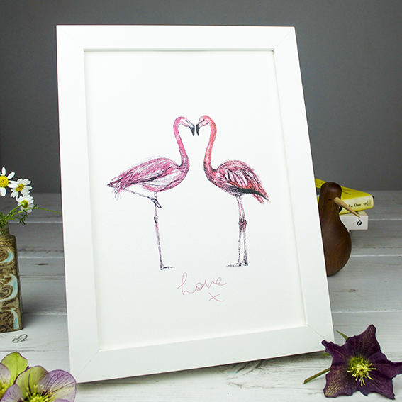 Flamingo Print Ella Johnston ellasplace.co.uk