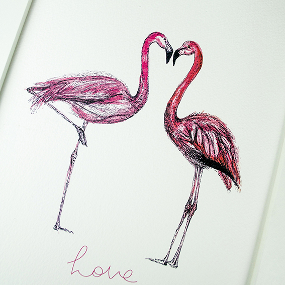 Flamingo Love Print Ella Johnston ellasplace.co.uk