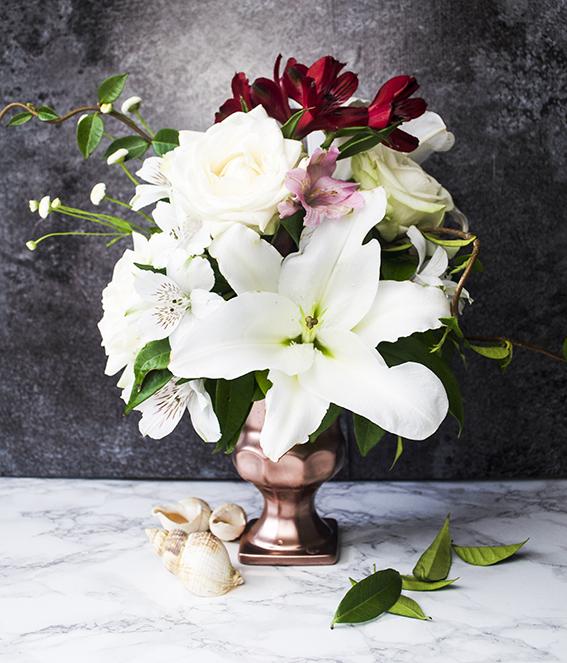 Vintage floral display ellasplace.co.uk