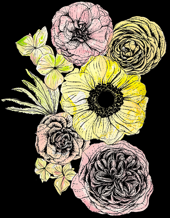 Retro Flowers Ella Johnston
