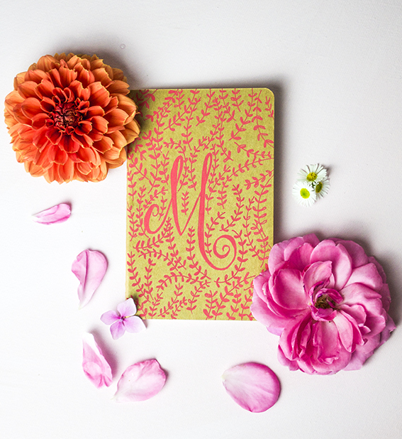 Monogramed Notebooks with Posca Pens ellasplace.co.uk