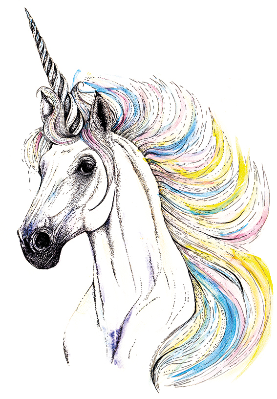 Unicorn Print Ella Johnston. Available on Not On The High Street.