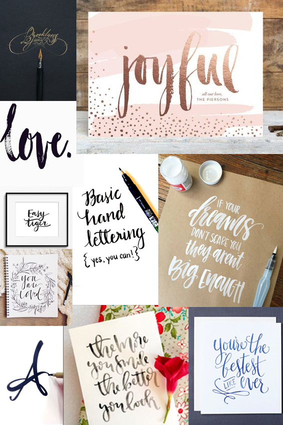 Brush Lettering Monday Moodboard