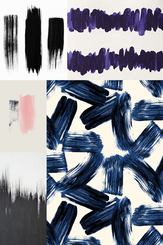 Ella Johnston Monday Moodboard Paint Strokes