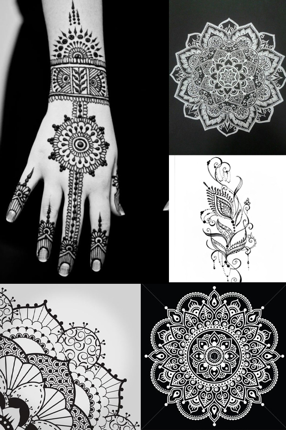 MOnday Moodboard Henna patterns