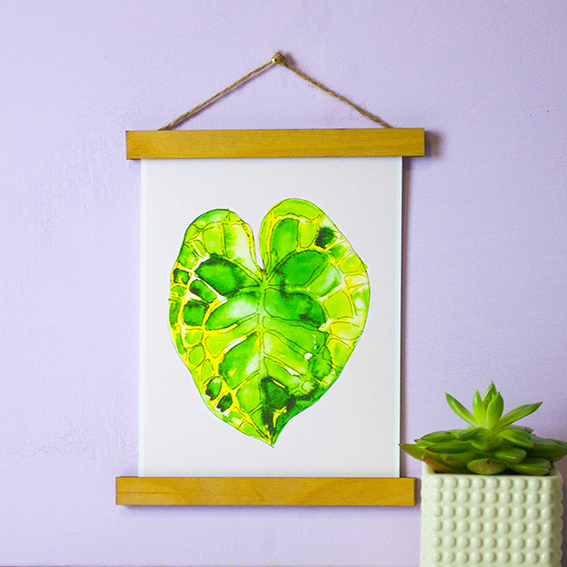 Leaf prints by Ella Johnston