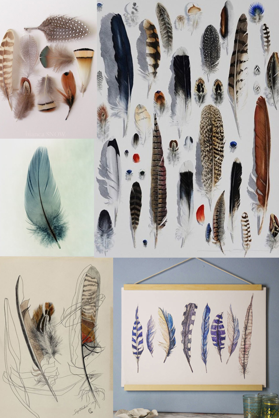 Monday moodboard feathers