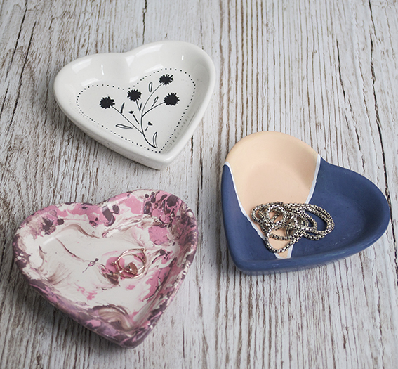 Heart shaped Jewellery holders 3 days (c) Ella Johnston