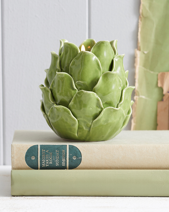 Artichoke Ceramic Tea Light Holder