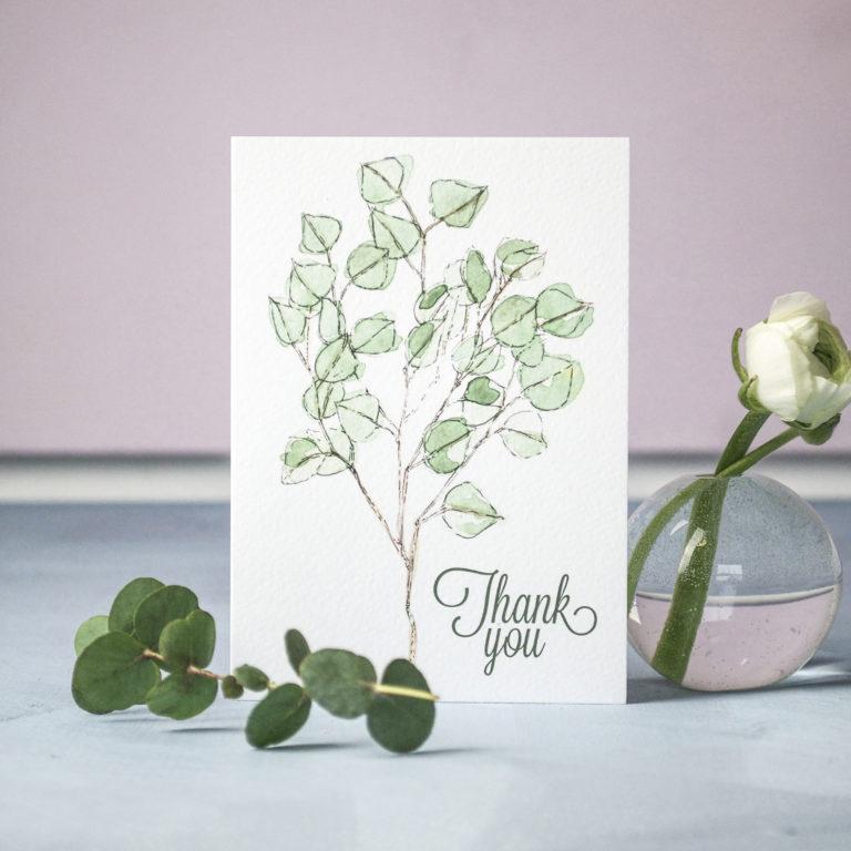 Eucalyptus Wedding Invitation (c) Ella Johnston