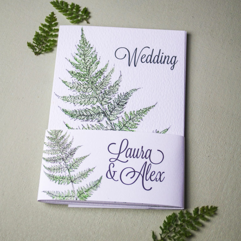 Fern Wedding Invitation (c) Ella Johnston