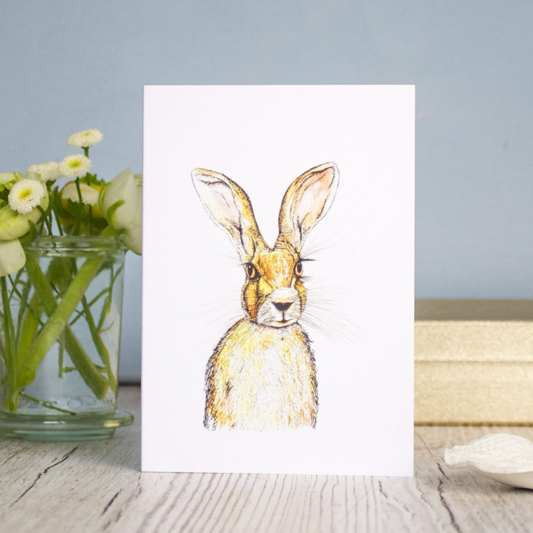 Hare Card (c) Ella Johnston