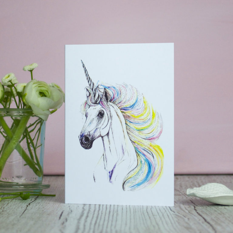 Unicorn Card (c) Ella Johnston