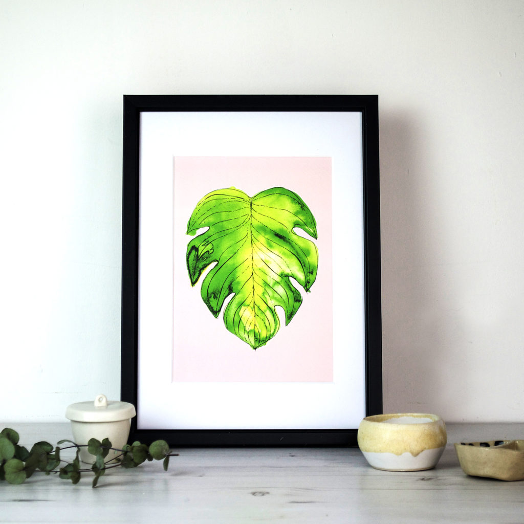 Monstera Leaf Print Folksy Ella Johnston