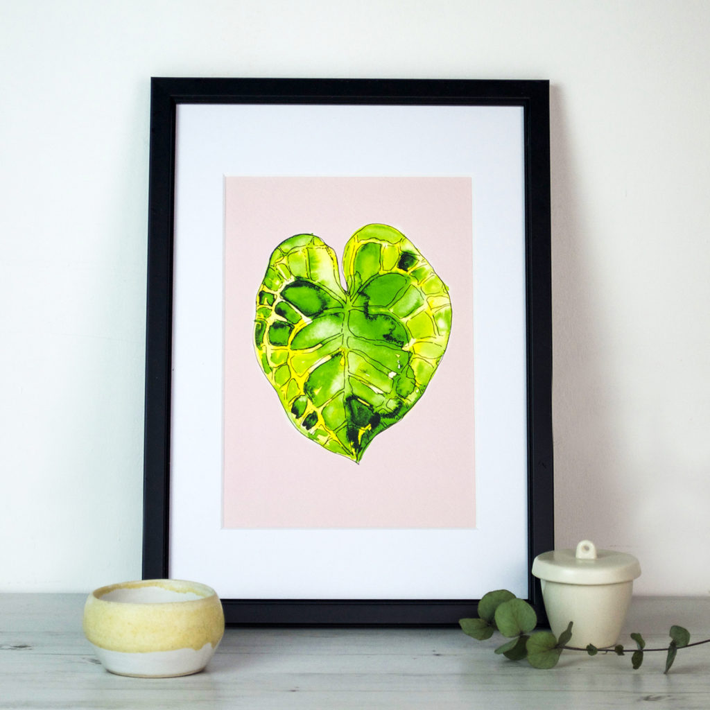 Monsterea leaf print Ella Johnston