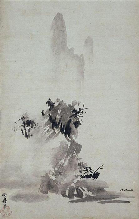 Sesshu's 'splashed-ink' landscape