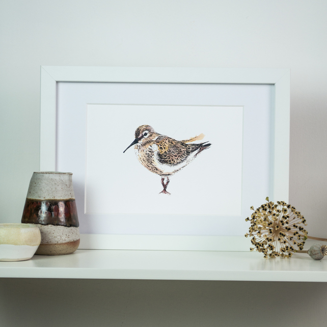 dunlin print by Ella Johnston