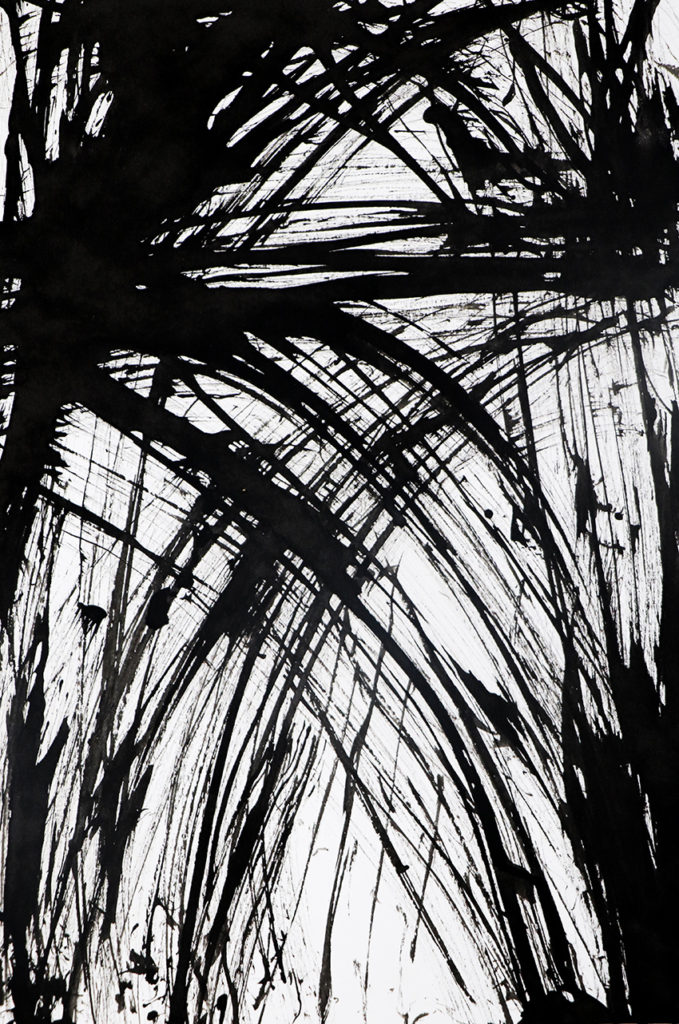Composition, Indian ink teasel drawing Ella Johnston