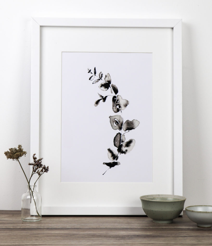 Eucalyptus sprig fine art print, Ella Johnston