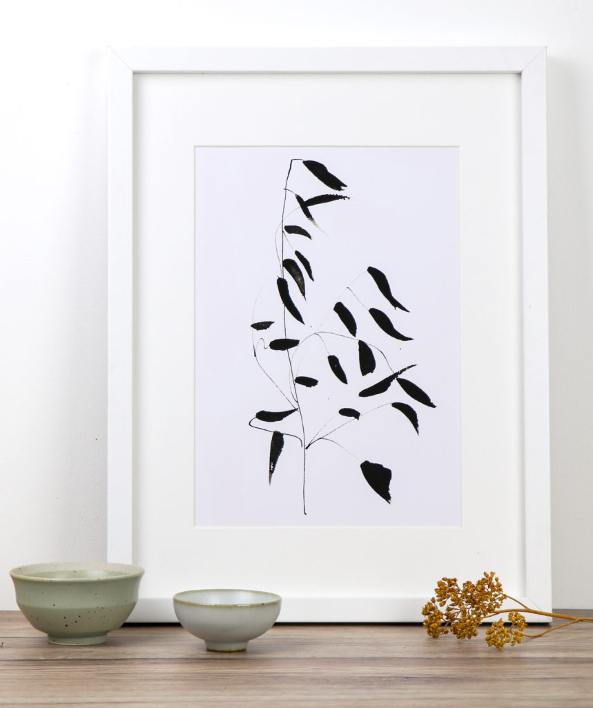 Flowing grass fine art print, Ella Johnston