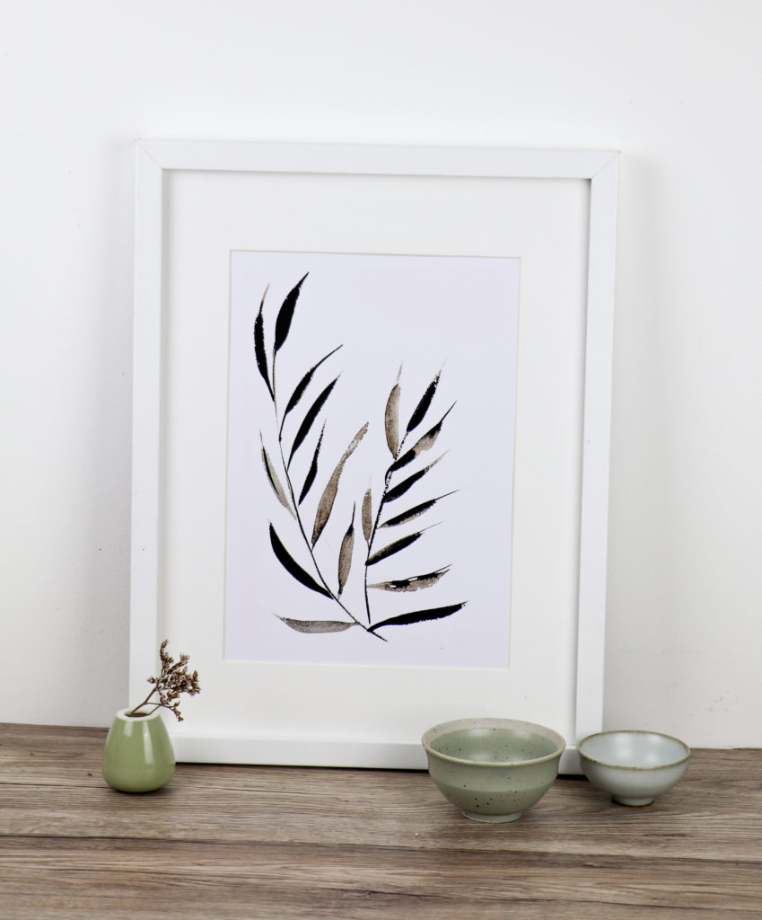 Floating leaves fine art print, Ella Johnston