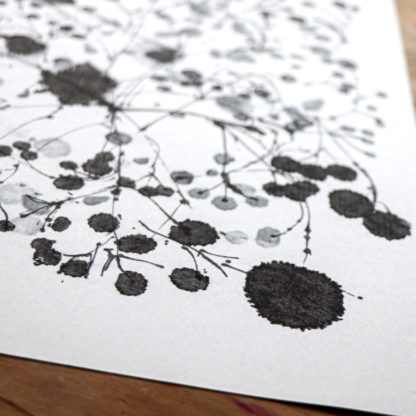 Found flowers ink abstract a4 art print, Ella Johnston