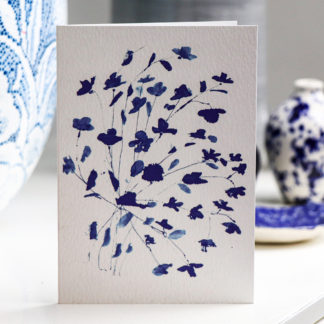 Blue bouquet floral card by Ella Johnston