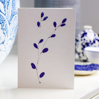 blue buds illustrated greeting card