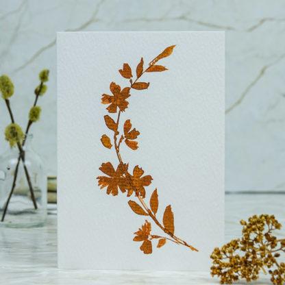 Sepia blossom greeting card