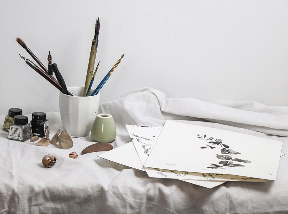 ELLA JOHNSTON INK DRAWING