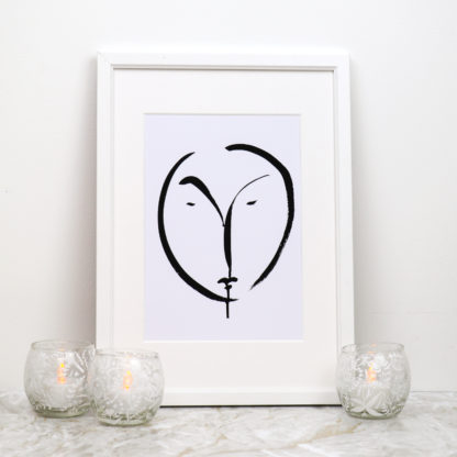 Visage Black And White Fine Art Print