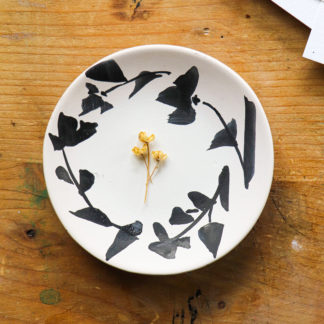 Hand-painted blossom trinket plate