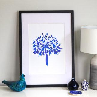 Blue agapanthus fine art print, Ella Johnston