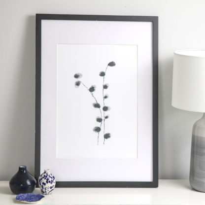 Catkins A3 fine art print, Ella Johnston