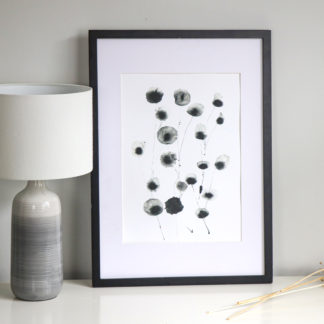 Wild seed heads A3 print, Ella Johnston