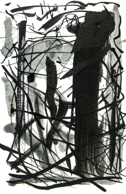 PORT ink on etching paper, Ella Johnston