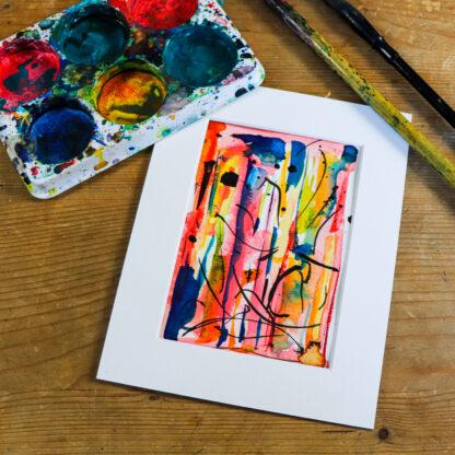 I dream of summer, ink on paper, original art Ella Johnston