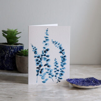 Blue Eucalyptus Greeting Card, Ella Johnston
