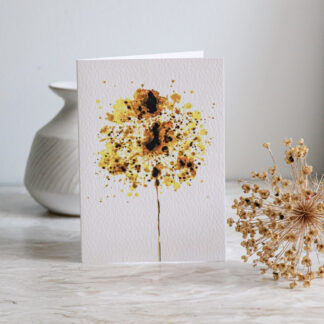 Golden Allium Greeting card