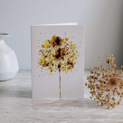Golden Allium Greeting card