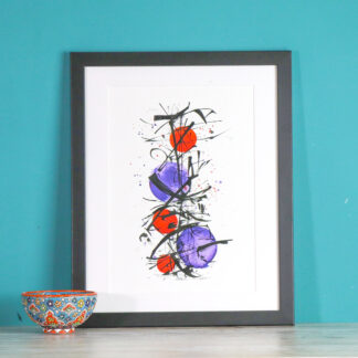 Original a4 Abstract print Ella Johnston