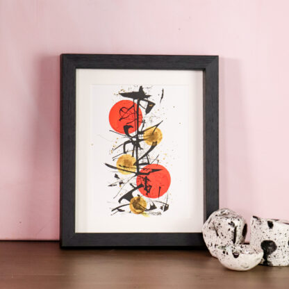 Abstract art print, Ella Johnston